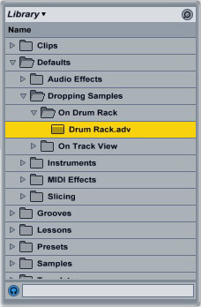 Ableton Drum Rack